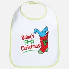 BABY'S FIRST CHRISTMAS (BOY) Bib