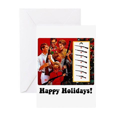 Gun Show Holiday Greeting Card