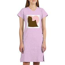 Yorkie Heart Women's Pink Nightshirt