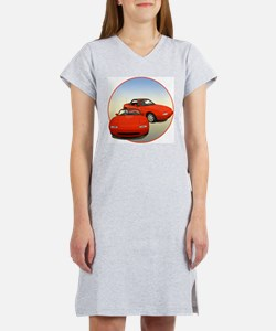Cute Sports car Women's Nightshirt