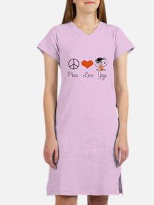 Peace Love Yoga Women's Nightshirt
