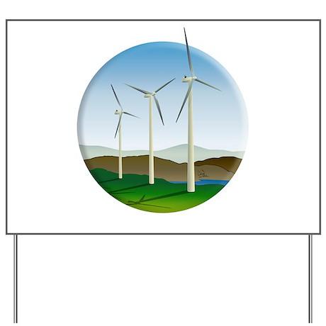 Circular Green Energy Art Yard Sign