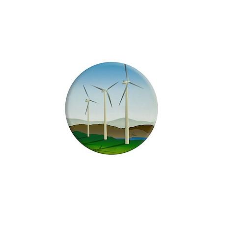 Circular Green Energy Art Mini Button (100 pack)