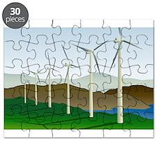 Circular Green Energy Art Puzzle