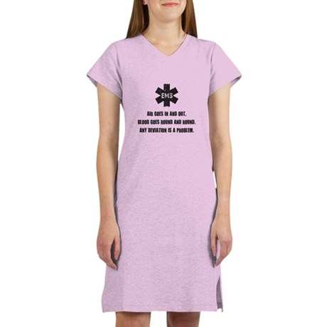 Air goes in and out... Women's Nightshirt