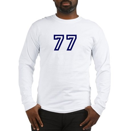 Number 77 Long Sleeve T-Shirt