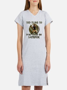 Lutefisk viking humor Women's Nightshirt
