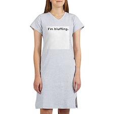 """I'm bluffing."" Women's Shirts (Light Colors)"