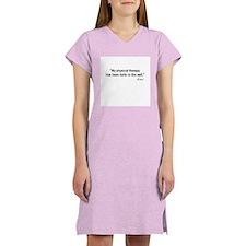 Knee Quote Women's Pink Nightshirt
