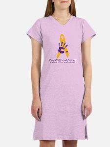 Cute Neuroblastoma gold ribbon Women's Nightshirt