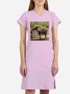 African Elephant 003 Women's Nightshirt