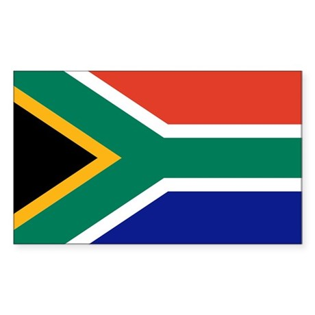 Flag of South Africa Rectangle Sticker