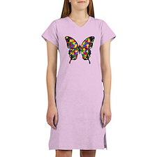 Autism Butterfly Women's Nightshirt