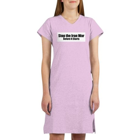 Stop Iran War Women's Nightshirt