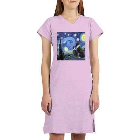 Starry Night Border Collie Women's Light Pajamas