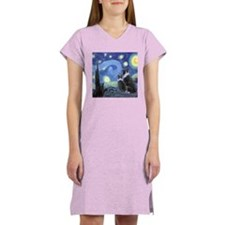 Starry Night Border Collie Women's Light Pajamas