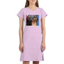 Chimpanzee 4 Women's Pink Nightshirt