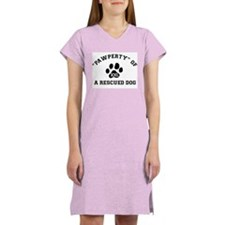 """Pawperty"" of a Rescued Dog Women's Pink Nightshir"