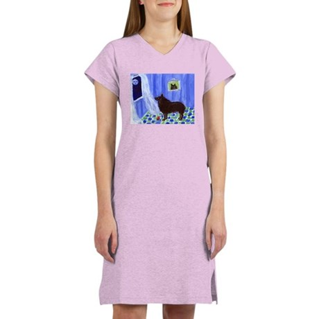SCHIPPERKE cs moon 1 Women's Nightshirt