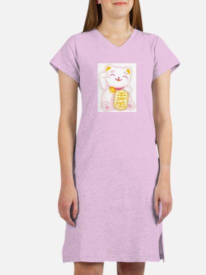 Cute Maneki neko Women's Nightshirt