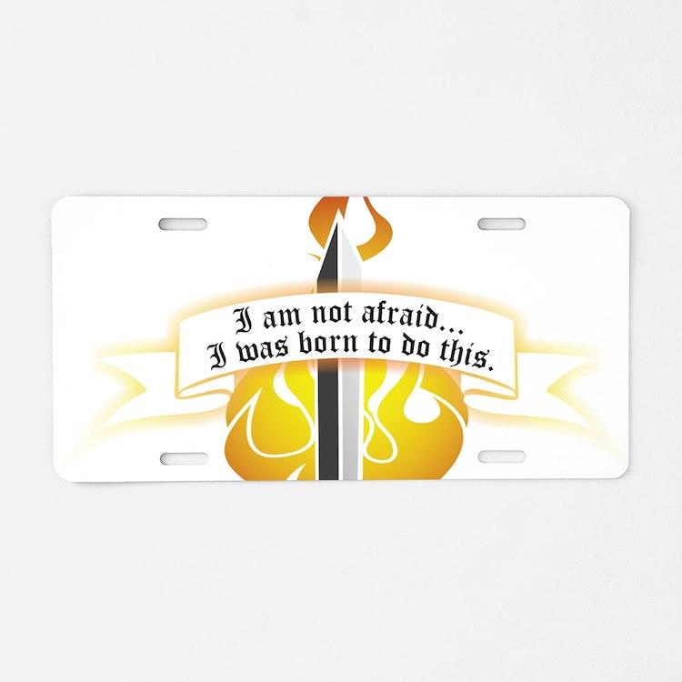 Cute Feminism Aluminum License Plate