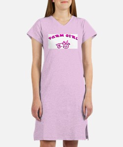 Pink farm girl Women's Nightshirt