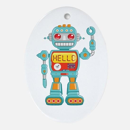 Hello Robot Ornament (Oval)