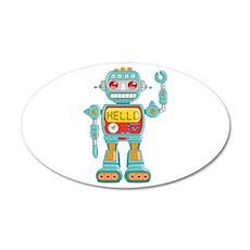 Hello Robot 22x14 Oval Wall Peel