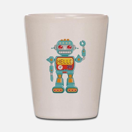 Hello Robot Shot Glass