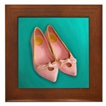 Vintage Pink Shoes Painting on Tile