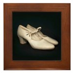 Vintage White Shoes Painting on Tile