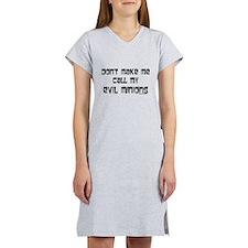 Call my evil minions Women's Nightshirt