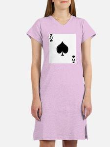 Ace of Spades Women's Pink Nightshirt