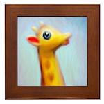 Vintage Toy Giraffe Painting