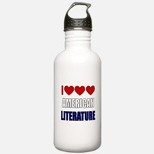 American Literature Water Bottle