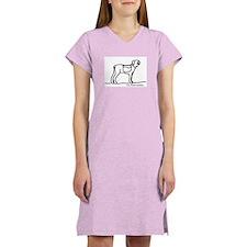 Hiking Dog Women's Pink Nightshirt