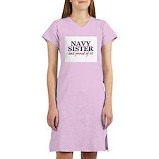 Navy Sister & proud of it Women's Nightshirt