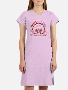 Buddha's Pizzeria Women's Nightshirt