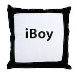 iBoy (black font) Throw Pillow