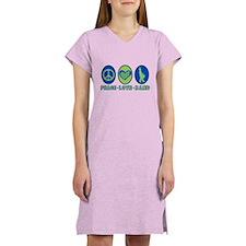 PEACE - LOVE - BAND Women's Nightshirt