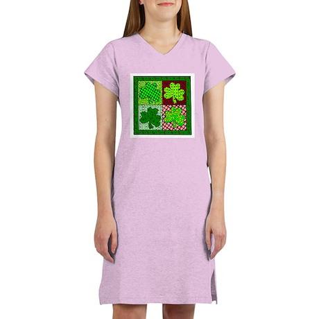 St. Patrick's Day Quilt Women's Nightshirt