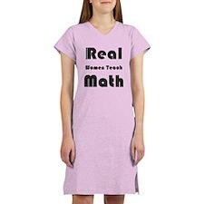 Real Women Teach Math Women's Nightshirt