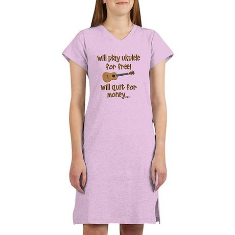 funny ukulele Women's Nightshirt