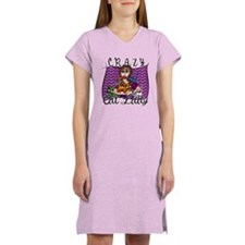 Crazy Cat Lady [Brunette] Women's Nightshirt