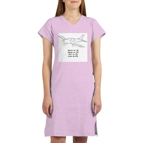 """Airplane """"...to fly"""" Women's Nightshirt"""