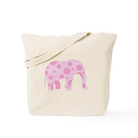 Pink Polka-Dot Elephant, Bag/Tote Tote Bag