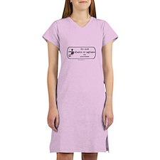 Do not shake or agitate pharm Women's Nightshirt