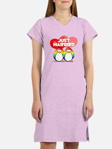Just Married Rainbow Penguins Women's Light Nights