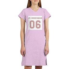 Junior Bridesmaid 06 Women's Pink Nightshirt