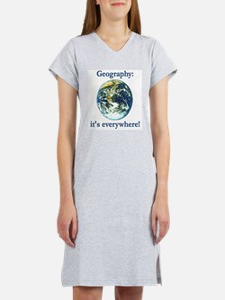Geography Women's Pink Nightshirt